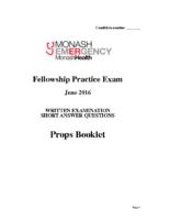 Monash Health 2016.2 – Props