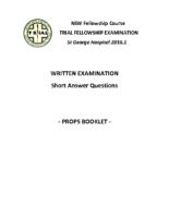 NSW Fellowship Course 2016.2 Props Booklet
